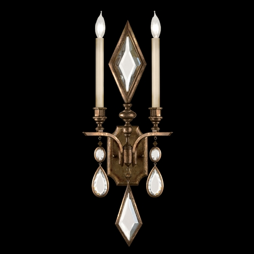 Fine Art Lamps Fine Art Lamps Encased Gems Bronze Patina Sconce 718150-3ST