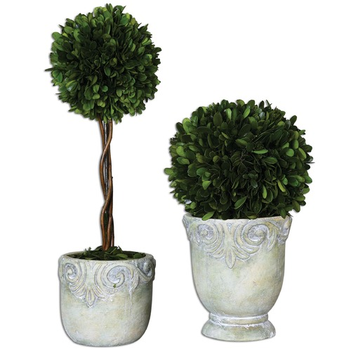 Uttermost Lighting Uttermost Preserved Boxwood Ball Topiaries Set of 2 60112