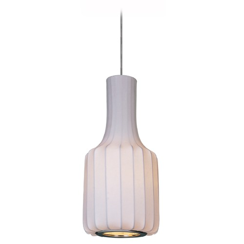 Maxim Lighting Maxim Lighting Polished Chrome Mini-Pendant with Cylindrical Shade 12183WTPC