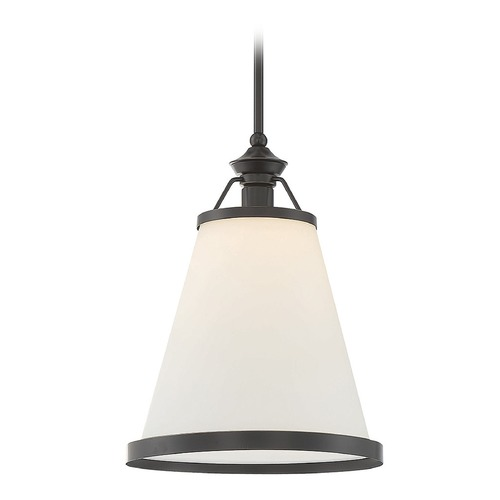 Savoy House Savoy House Lighting Ashmont Classic Bronze Pendant Light with Conical Shade 7-130-1-44