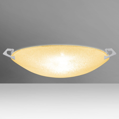 Besa Lighting Besa Lighting Sonya Satin Nickel LED Flushmount Light 8417GD-LED-SN