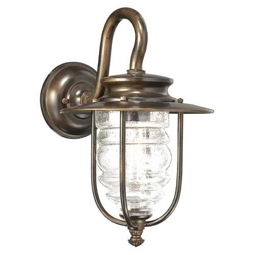 Minka Lavery Outdoor Wall Light with Clear Glass in Chelesa Bronze Finish 72262-189