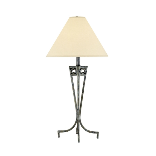 Lite Source Lighting Lite Source Lighting Tessuto Pewter Table Lamp with Coolie Shade LS-3780