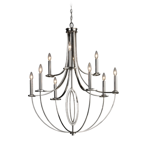 Elk Lighting Modern Chandelier in Polished Nickel Finish 10159/6+3