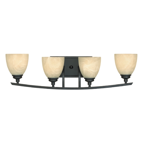 Designers Fountain Lighting Bathroom Light with Alabaster Glass in Burnished Bronze Finish 82904-BNB