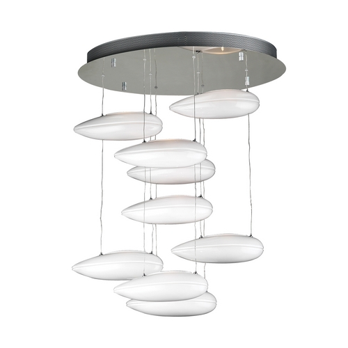 PLC Lighting Modern Pendant Light in Polished Chrome Finish 76863 PC