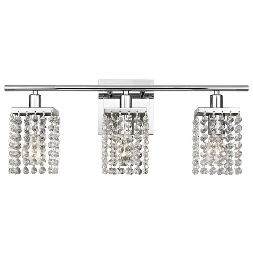 Ashford Classics Lighting 3-Light Crystal Bathroom Vanity Light 2276-26