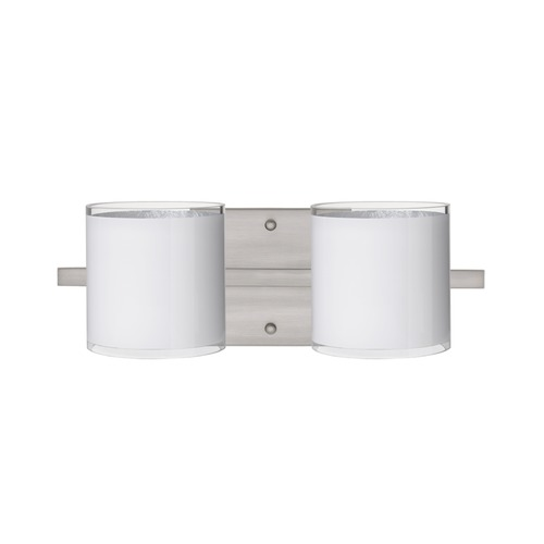 Besa Lighting Besa Lighting Pogo Satin Nickel Bathroom Light 2WS-7180SF-SN