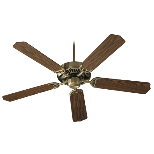 Quorum Lighting Quorum Lighting Capri Antique Brass Ceiling Fan Without Light 77425-4