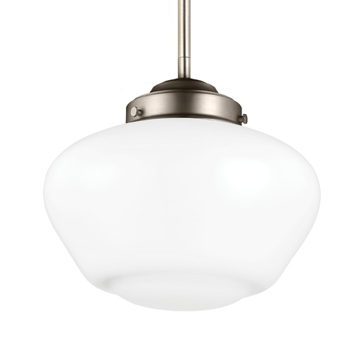 Feiss Lighting Feiss Alcott Satin Nickel Mini-Pendant Light P1383SN