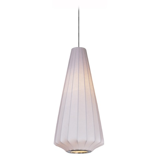 Maxim Lighting Maxim Lighting Cocoon Polished Chrome Pendant Light with Conical Shade 12184WTPC