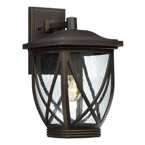 Quoizel Lighting Quoizel Tudor Palladian Bronze Outdoor Wall Light TDR8409PNFL