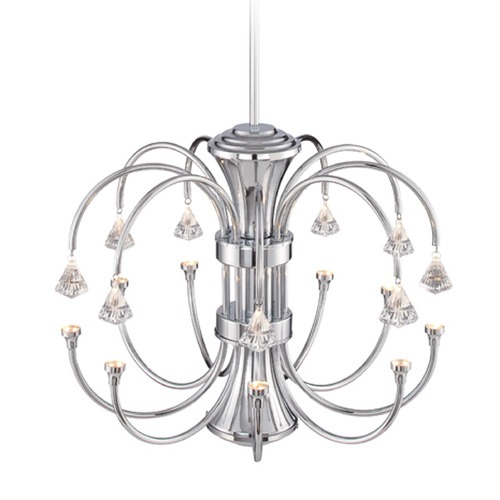Designers Fountain Lighting Designers Fountain Galaxy Chrome LED Chandelier LED85989-CH