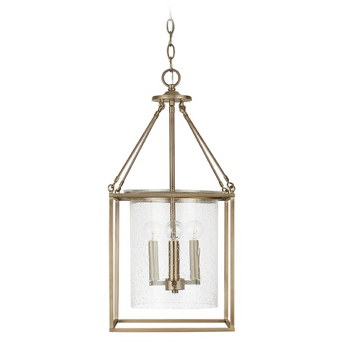 Capital Lighting Capital Lighting Independent 4-Light Aged Brass Pendant Light 532843AD