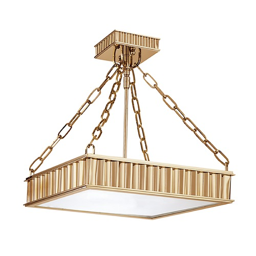Hudson Valley Lighting Semi-Flushmount Light in Aged Brass Finish 933-AGB
