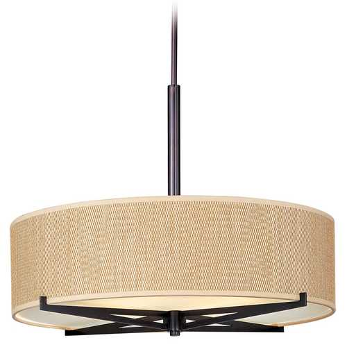 ET2 Lighting Modern Pendant Light with Brown Tones Shades in Oil Rubbed Bronze Finish E95408-101OI