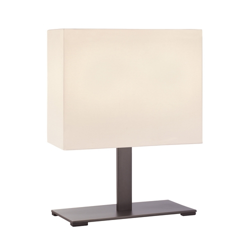 Sonneman Lighting Modern Table Lamp with White Shades in Black Brass Finish 7020.51F