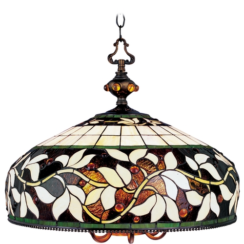 Elk Lighting Chandelier with Tiffany Glass in Bronze Finish 715-TB