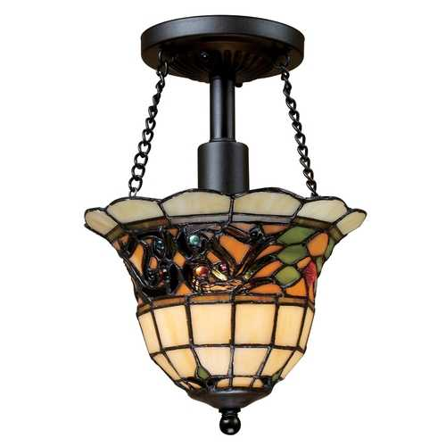 Elk Lighting Tiffany Semi-Flushmount Light in Vintage Finish 70021-1
