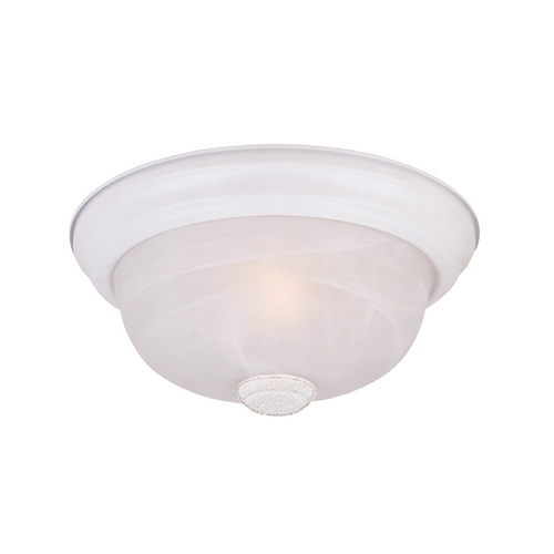 Designers Fountain Lighting Flushmount Light with Alabaster Glass in White Finish 1257S-WH-AL