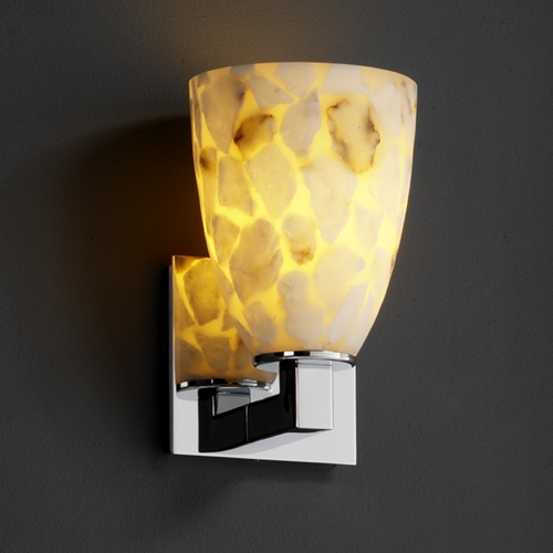 Justice Design Group Justice Design Group Alabaster Rocks! Collection Sconce ALR-8921-18-CROM