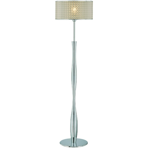 Lite Source Lighting Lite Source Lighting Chrome Floor Lamp with Drum Shade LS-81305C/OPT