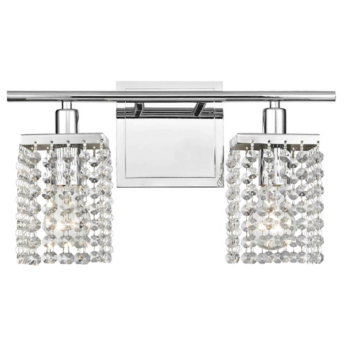 Ashford Classics Lighting 2-Light Crystal Bathroom Vanity Light 2275-26
