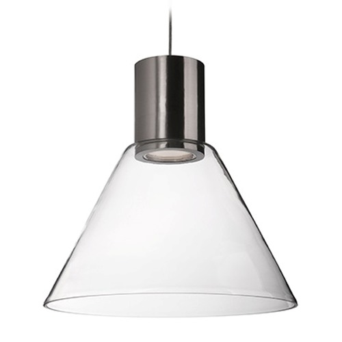 Kuzco Lighting Kuzco Lighting Brushed Nickel LED Pendant Light with Coolie Shade PD11612-BN