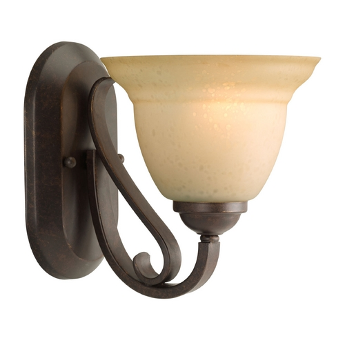 Progress Lighting Progress Sconce Wall Light in Forged Bronze Finish P2881-77