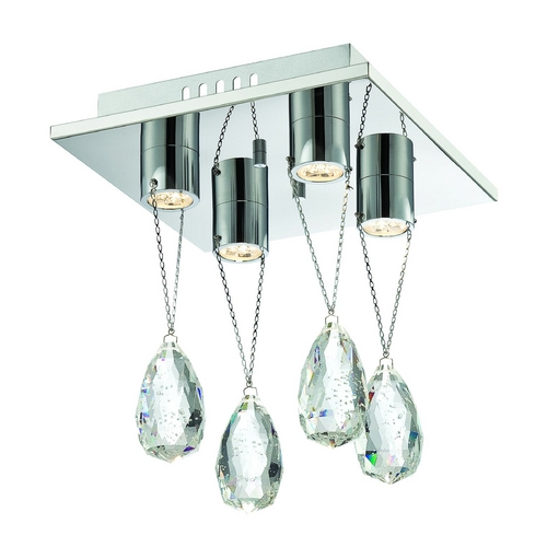 Lite Source Lighting Lite Source Lighting Jacquelyne Chrome LED Flushmount Light EL-50130