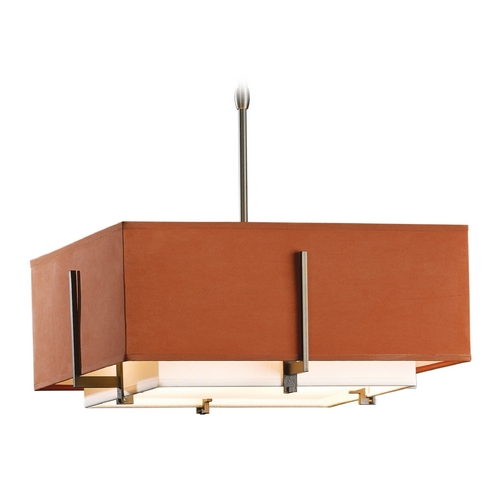 Hubbardton Forge Lighting Hubbardton Forge Lighting Exos Dark Smoke Pendant Light with Square Shade 139625-SKT-STND-07-SFSC