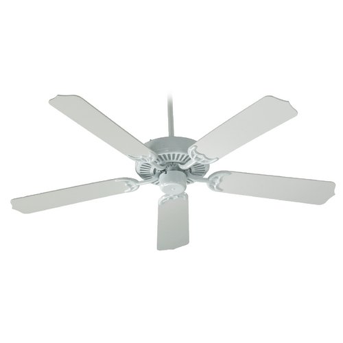 Quorum Lighting Quorum Lighting Capri White Ceiling Fan Without Light 77425-6