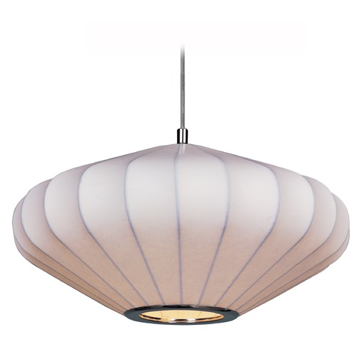 Maxim Lighting Maxim Lighting Cocoon Polished Chrome Pendant Light with Oblong Shade 12185WTPC