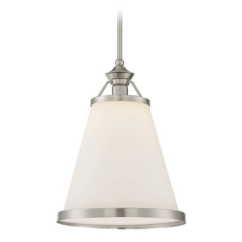 Savoy House Savoy House Lighting Ashmont Satin Nickel Pendant Light with Conical Shade 7-130-1-SN