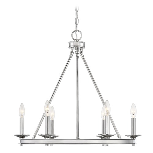 Savoy House Savoy House Lighting Middleton Polished Nickel Chandelier 1-307-6-109
