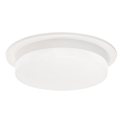 Kuzco Lighting Modern White LED Flushmount Light with Frosted Shade 3000K 850LM FM42706-WH