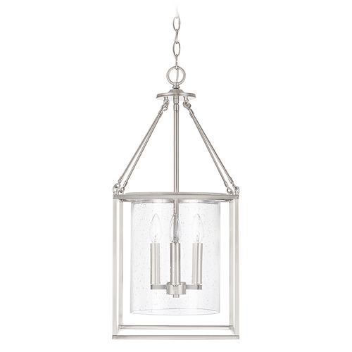 Capital Lighting Capital Lighting Independent 4-Light Brushed Nickel Pendant Light 532843BN