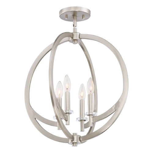 Quoizel Lighting Quoizel Lighting Orion Brushed Nickel Semi-Flushmount Light ON1718BN