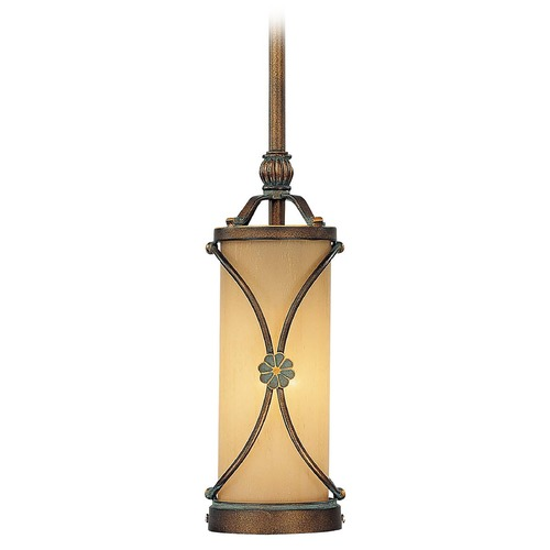 Minka Lavery Mini-Pendant Light with Beige / Cream Glass 4231-288