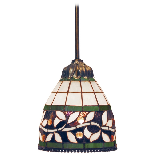 Elk Lighting Mini-Pendant Light with Multi-Color Glass 716-TB