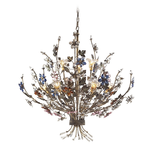 Elk Lighting Chandelier in Bronzed Rust Finish 9108/6+3