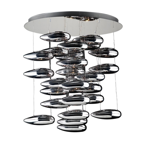 PLC Lighting Modern Pendant Light in Polished Chrome Finish 76765 PC