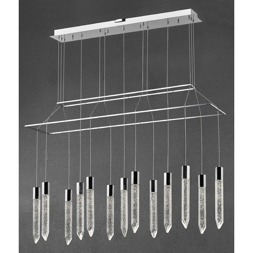 Design Classics Lighting Design Classics Icicle Chrome LED Crystal Chandelier 1895-26