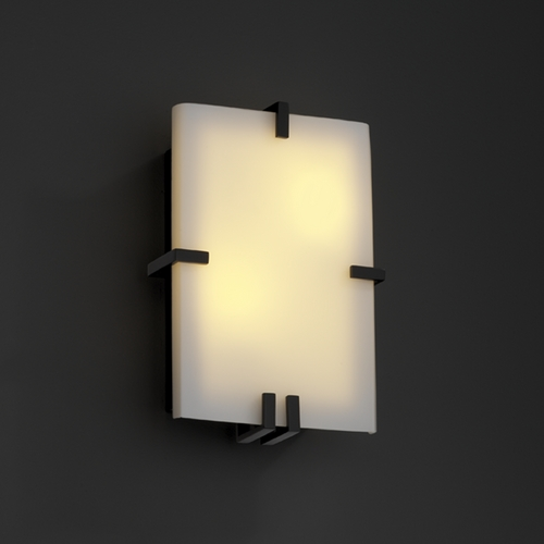 Justice Design Group Justice Design Group Fusion Collection Sconce FSN-5551-OPAL-MBLK