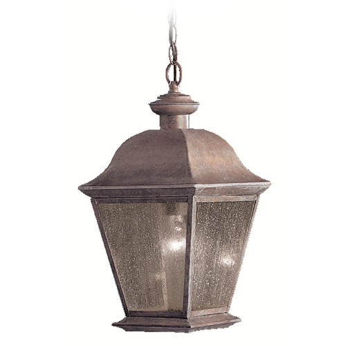 Kichler Lighting Kichler Outdoor Hanging Light with Clear Glass in Black Finish 9809BK