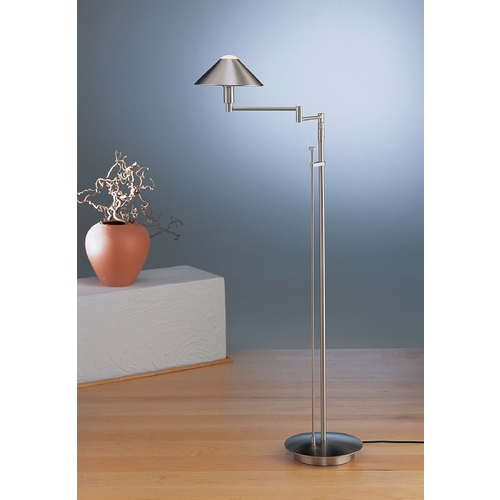 Holtkoetter Lighting Holtkoetter Modern Swing Arm Lamp in Satin Nickel Finish 9424 SN
