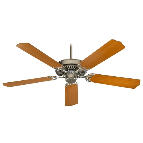 Quorum Lighting Quorum Lighting Capri Satin Nickel Ceiling Fan Without Light 77425-65