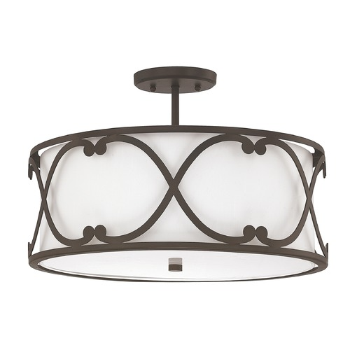 Capital Lighting Capital Lighting Alexander Burnished Bronze Semi-Flushmount Light 4743BB-610