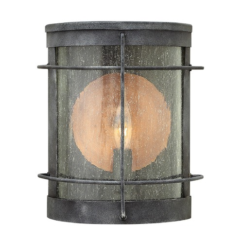 Hinkley Lighting Hinkley Lighting Newport Aged Zinc Outdoor Wall Light 2620DZ