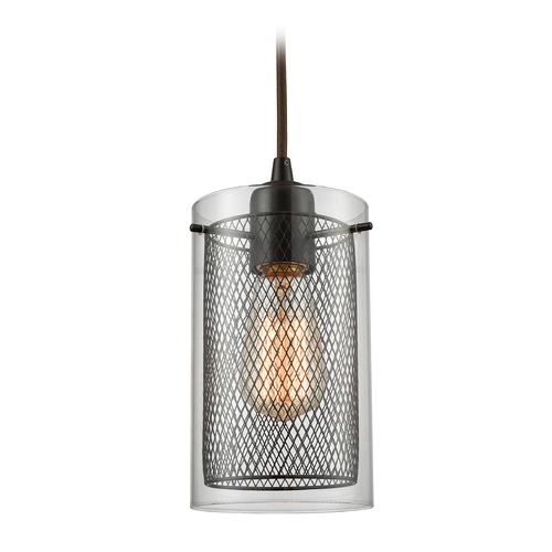 Elk Lighting Elk Lighting Brant Oil Rubbed Bronze Mini-Pendant Light with Cylindrical Shade 10448/1